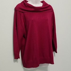 APPLESEED'S Size L Metallic Knit Pullover Sweater